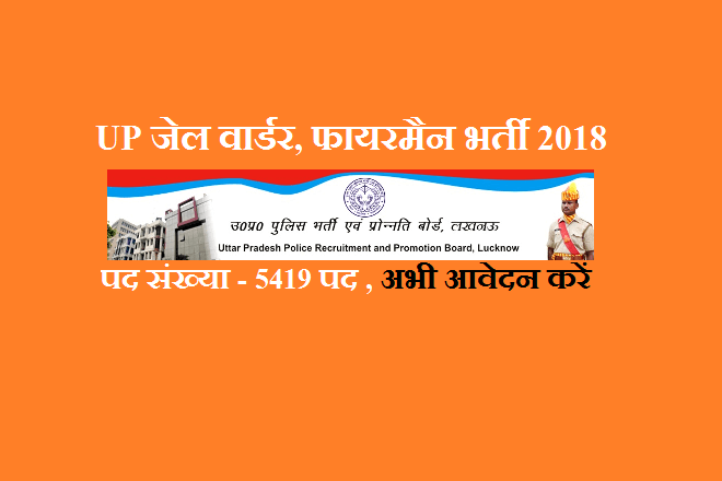 UP Jail warder Recruitment 2018
