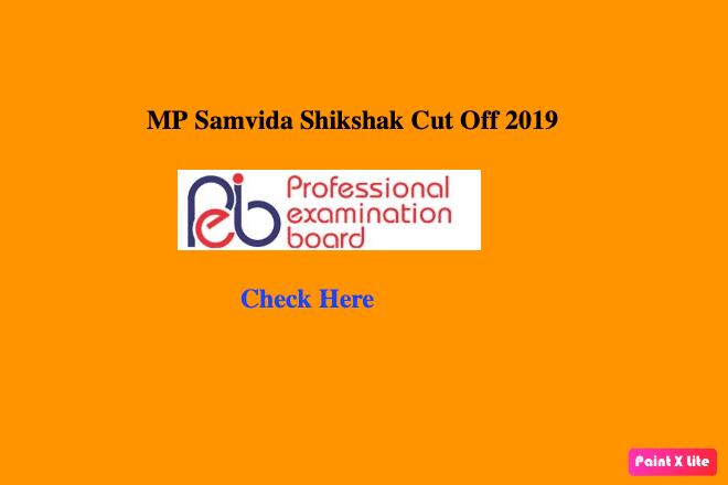 mp samvida shikshak cutoff 2019