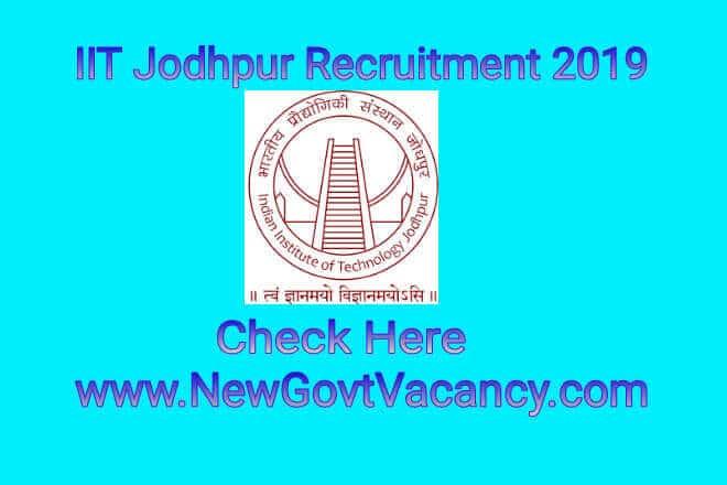 IIT JodhpurRecruitment 2019