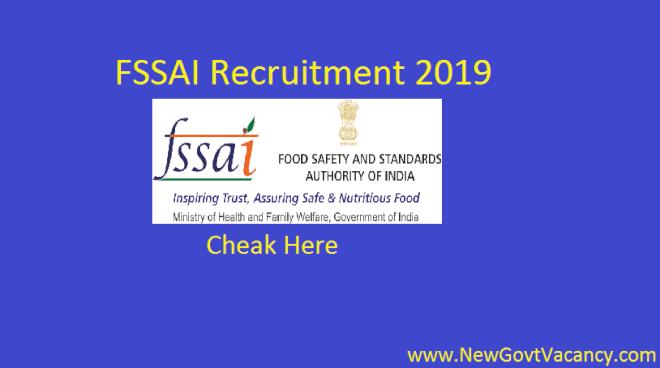 FSSAI Vacancy