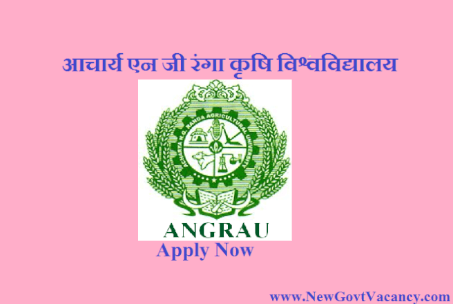 ANGRAU Recruitment 2019