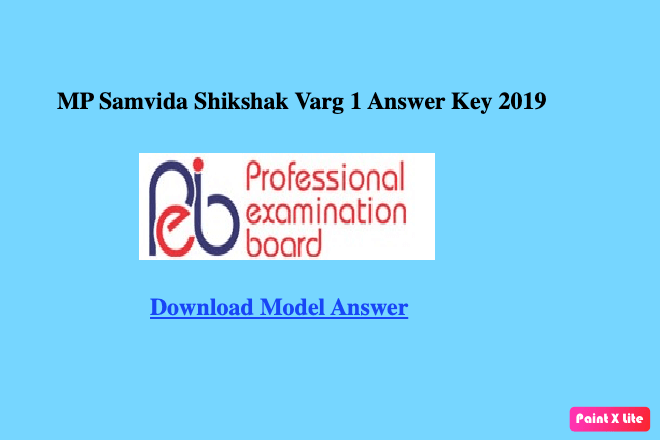 MP Samvida Shikshak Varg 1 Answer key