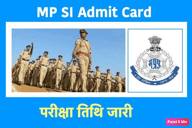 MP SI Admit Card 2019