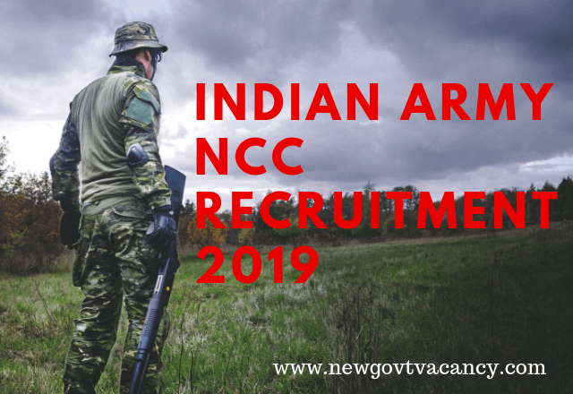 Indian Army NCC Recruitment 2019