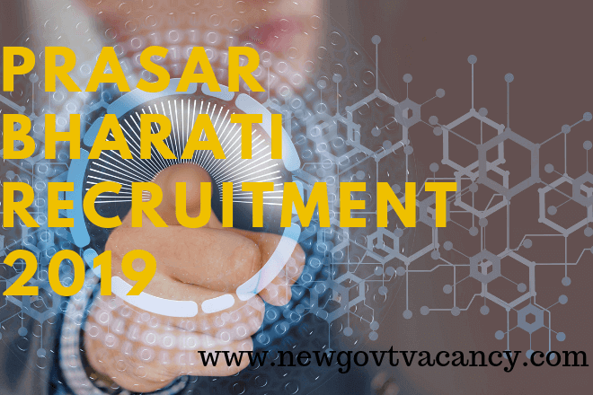 Prasar Bharti Recruitment 2019
