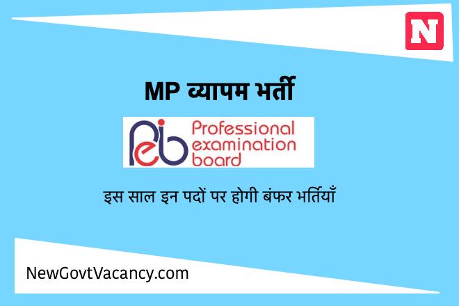 MP Vyapam Recruitment मप्र व्यापम भर्ती