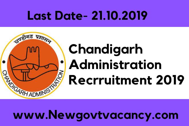 Chandigarh Administration Recruitment 2019
