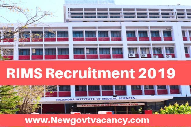 RIMS Recruitment 2019