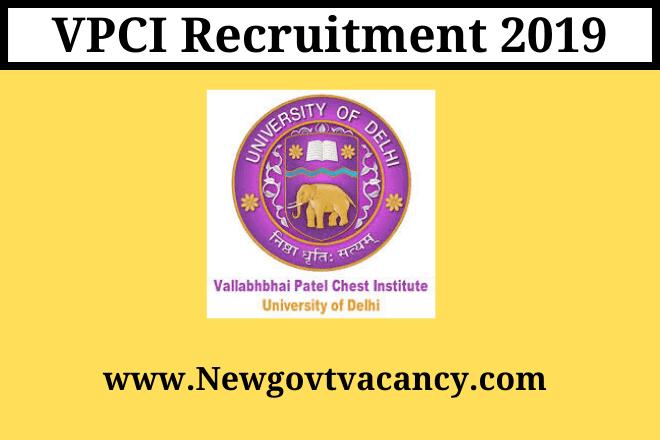 VPCI Recruitment 2019