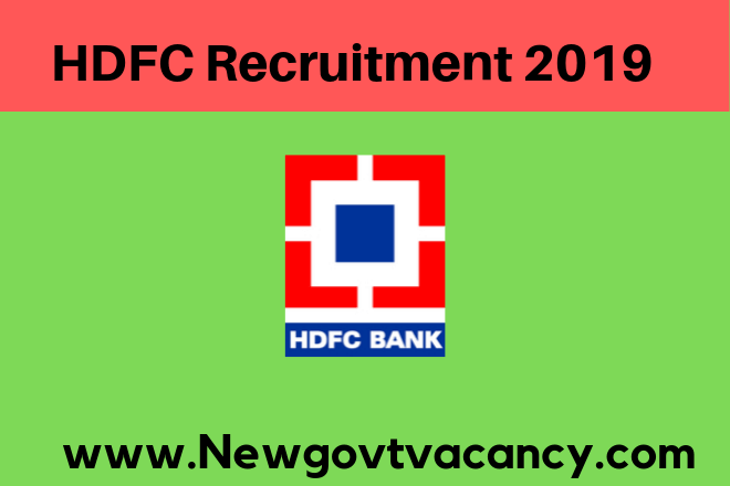 HDFC Recruitment 2019