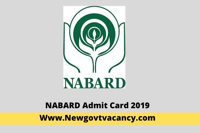 NABARD Admit Card 2019