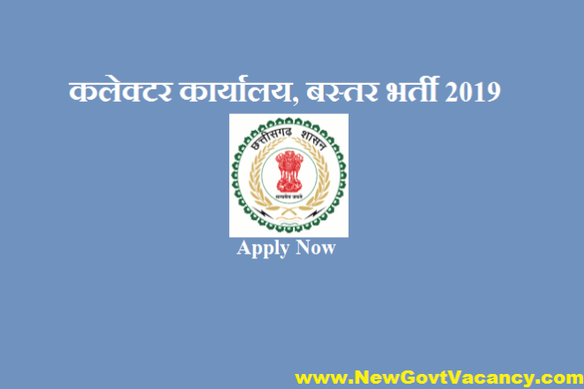 Collector Office Bastar Recruitment 2019