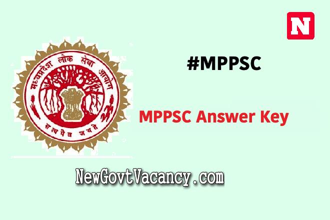 MPPSC Answer Key 2020