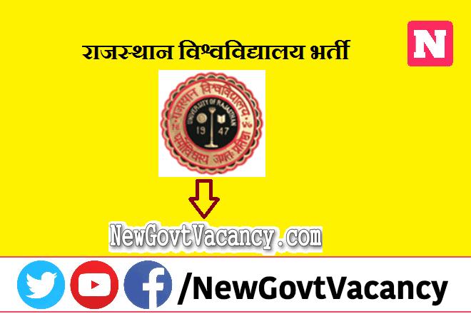 Rajasthan University Recruitment 2020