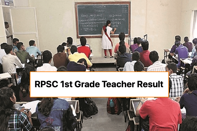RPSC 1st Grade Teacher Result 2020 School Lecturer