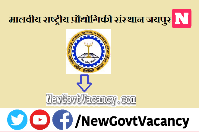 MNIT Jaipur Recruitment 2021