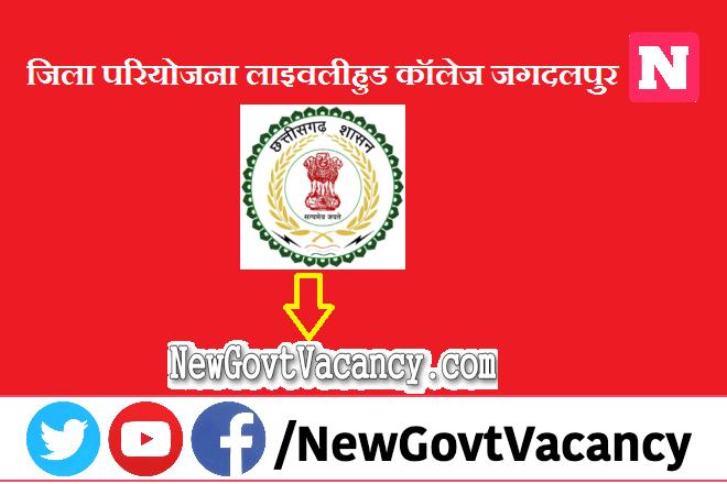 District Project Livelihood College Jagdalpur Recruitment 2021