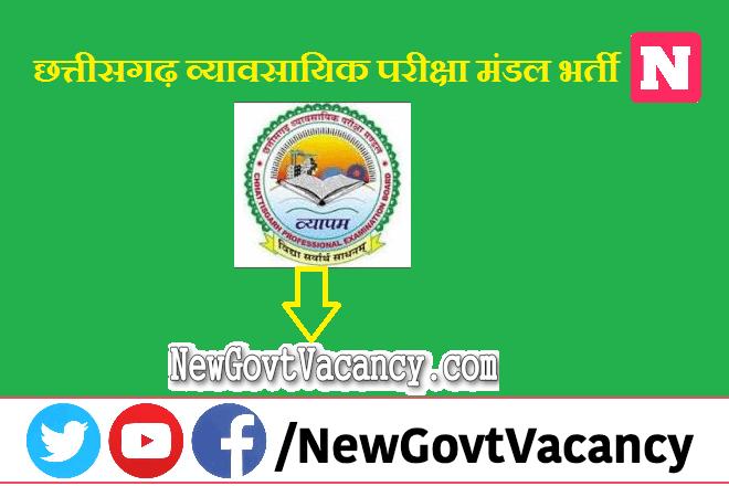 CG Vyapam Market Inspector Sub Inspector Recruitment 2021